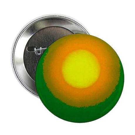 """Sun#3-green-orange-sun 2.25"""" Button"""