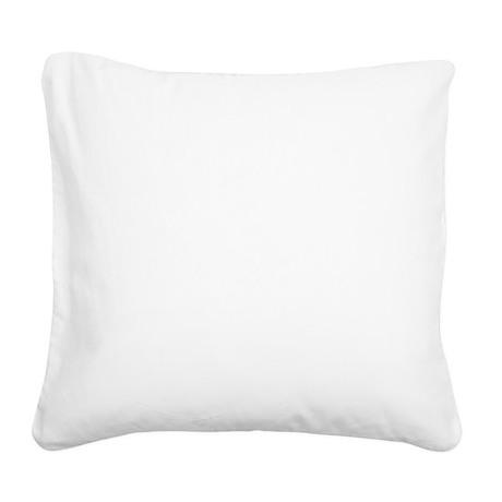 icosahedron white Square Canvas Pillow