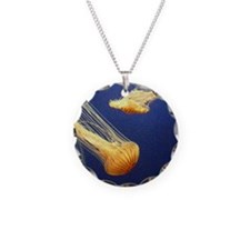 Orange Jellyfish Necklace