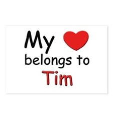 My heart belongs to tim Postcards (Package of 8)