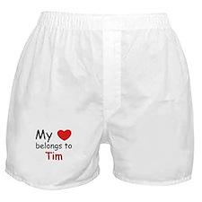 My heart belongs to tim Boxer Shorts