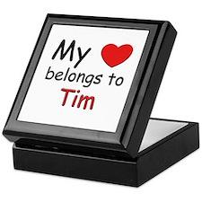 My heart belongs to tim Keepsake Box
