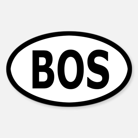 BOS Sticker/Decal - White, Black Text