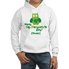 Personalized St Patrick's Day Owl Hoodie