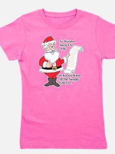 Santa Knows Girl's Tee