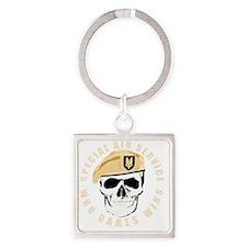 sas_skull_tshirt-p2354259544717763 Square Keychain