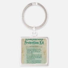 relationship protection kit Square Keychain