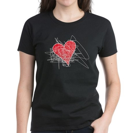 Erase Valentine's Day Women's Dark T-Shirt