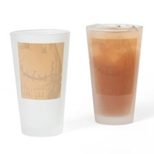 Fat Pumpkin and Black Kitty 1 lette Drinking Glass