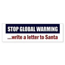 Stop-Global-Warming-(santa) Bumper Sticker