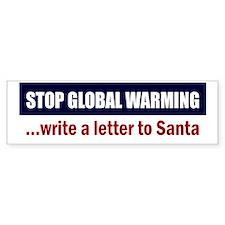 Stop-Global-Warming-(santa) Car Sticker