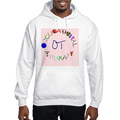 ot pink rect 2 Hooded Sweatshirt