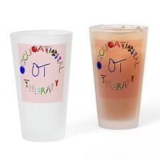ot pink rect 2 Drinking Glass