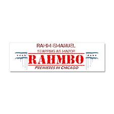 rahmbo straight text transparent Car Magnet 10 x 3