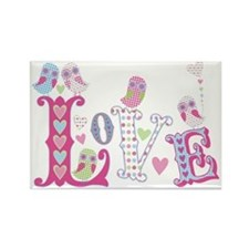 Sweet Little Love Owls design Rectangle Magnet