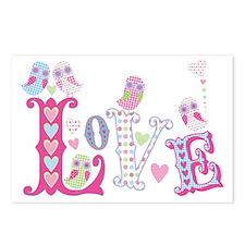 Sweet Little Love Owls de Postcards (Package of 8)