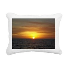 Sunset on the Gulf of Me Rectangular Canvas Pillow