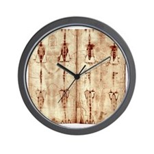 Shroud of Turin - Full Length Front-Bac Wall Clock