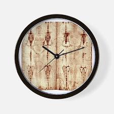 Shroud of Turin - Full Length Front-Bac Wall Clock