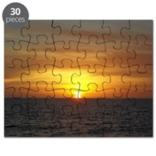 Sunset on the Gulf of Mexico from Vanderbil Puzzle