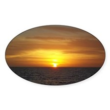 Sunset on the Gulf of Mexico from V Decal