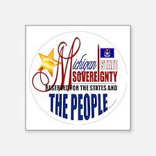 "Sovereignty Button Square Sticker 3"" x 3"""