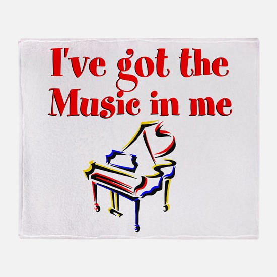 PIANO PLAYER Throw Blanket