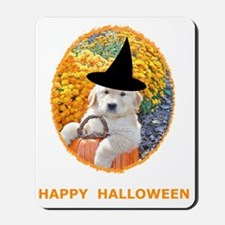 Halloween Funny Puppy Witch T-Shirts Mousepad