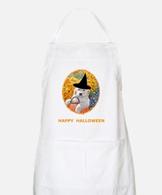 Halloween Funny Puppy Witch T-Shirts Apron