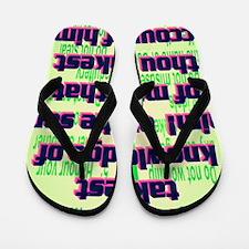 Psalm144-3(large poster) Flip Flops