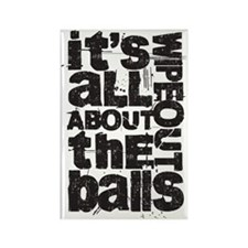 All About Balls Blk Rectangle Magnet