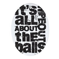 All About Balls Blk Oval Ornament
