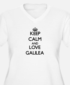 Keep Calm and Love Galilea Plus Size T-Shirt