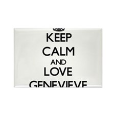 Keep Calm and Love Genevieve Magnets