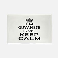 I Am Guyanese I Can Not Keep Calm Rectangle Magnet