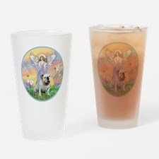 Blessings - English Bulldog (white) Drinking Glass
