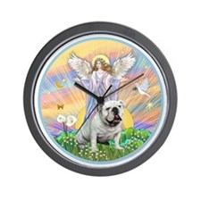 Blessings - English Bulldog (white) Wall Clock