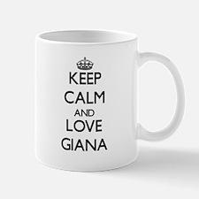 Keep Calm and Love Giana Mugs