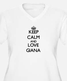 Keep Calm and Love Giana Plus Size T-Shirt