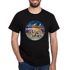 Xmas Star (R) - Two English Bulldogs T-Shirt