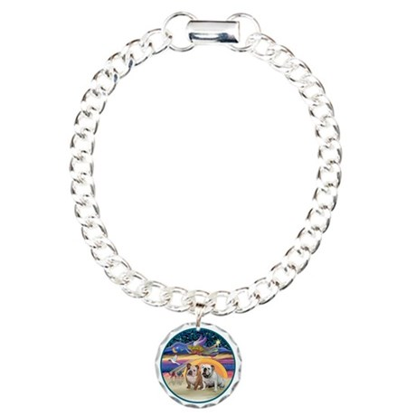 Xmas Star (R) - Two Engl Charm Bracelet, One Charm