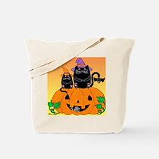 hllwn-2cats-pmkn-bat_Xbrdr Tote Bag