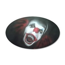 EvilClown 35x21 Oval Wall Decal