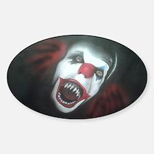 EvilClown Sticker (Oval)