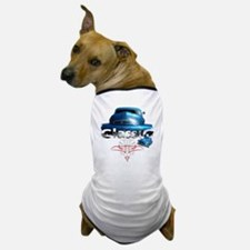 Blue_pinstripe Dog T-Shirt