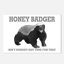 Honey Badger Ain't Nobody Got Time For That Postca