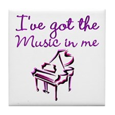 PIANO PLAYER Tile Coaster