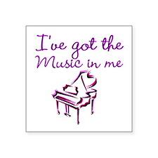 """PIANO PLAYER Square Sticker 3"""" x 3"""""""