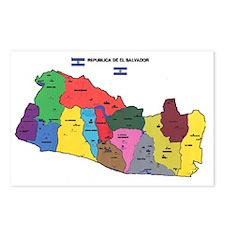el salv map 2 Postcards (Package of 8)