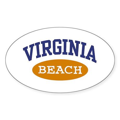 Virginia Beach Oval Sticker